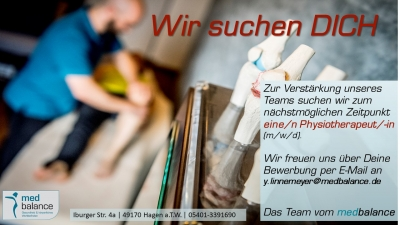 WIR SUCHEN DICH  Physiotherapeut/-in