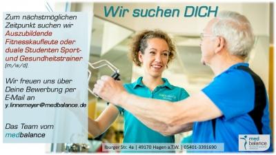 WIR SUCHEN DICH  Fitnesskauffrau/Fitnesskaufmann oder Gesundheitstrainer/-in