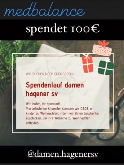 Spendenlauf der 1. Damen vom Hagener SV