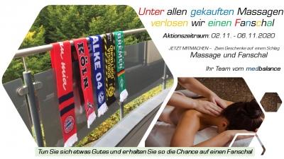 Massage kaufen - Fanschal gewinnen - Gutes tun